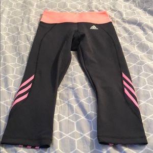 ADIDAS CLIMALITE cropped dark grey leggings